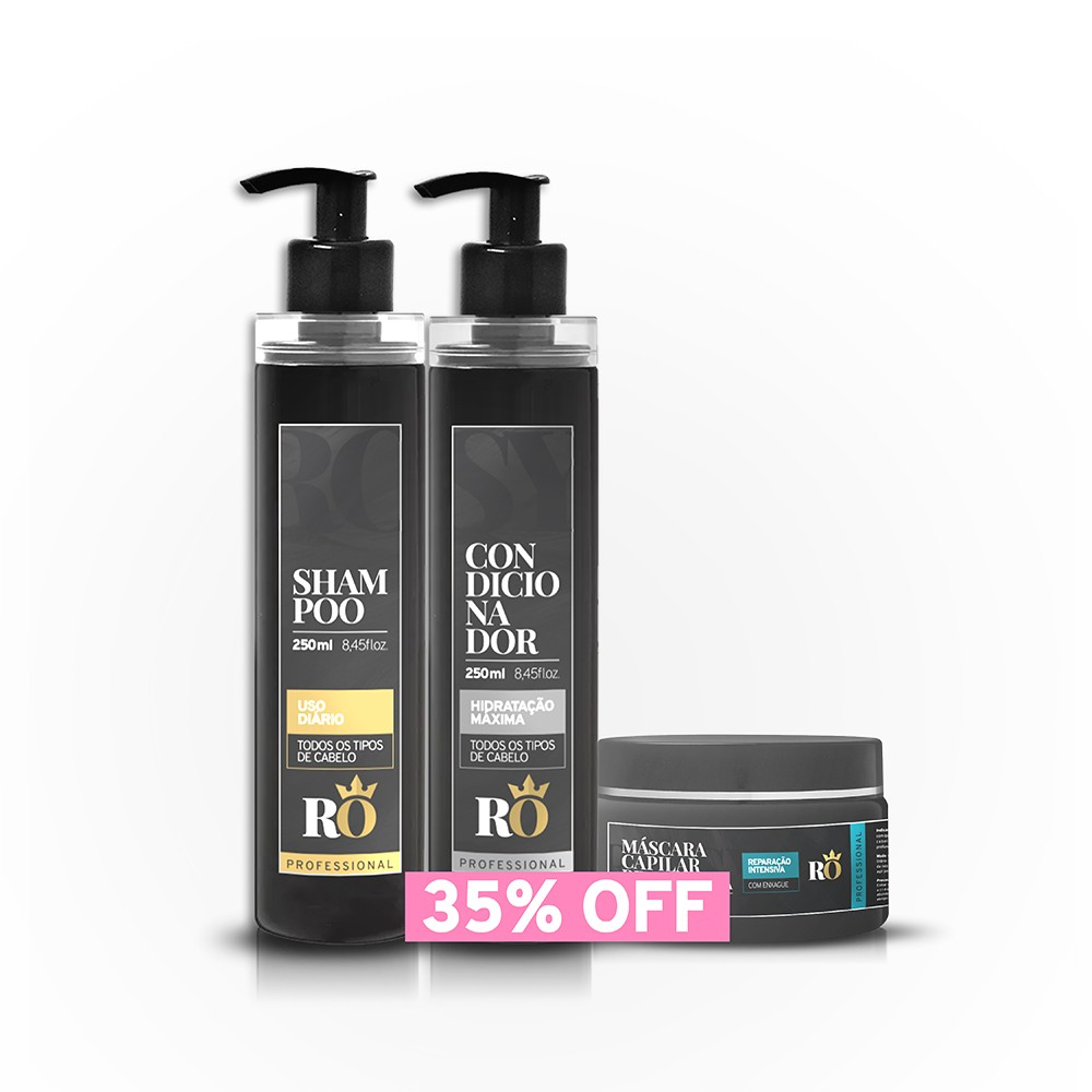 BLACK FRIDAY - Combo Shampoo + Condicionador + Máscara RO 245g