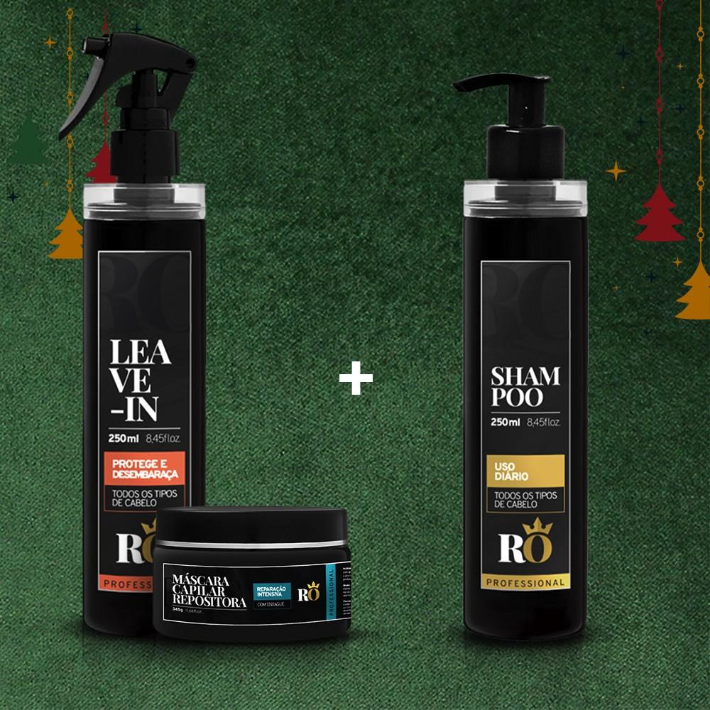 Combo Natal Leave-in + Máscara RO 245g - Ganhe o Shampoo