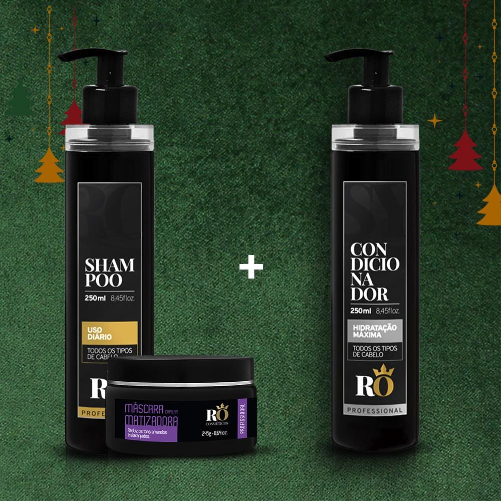 Combo Natal Shampoo + Matizadora RO 245g - Ganhe o Condicionador