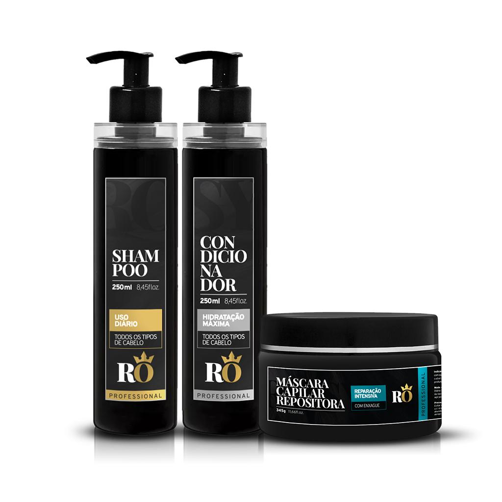 Combo Shampoo + Condicionador + Máscara RO 245g