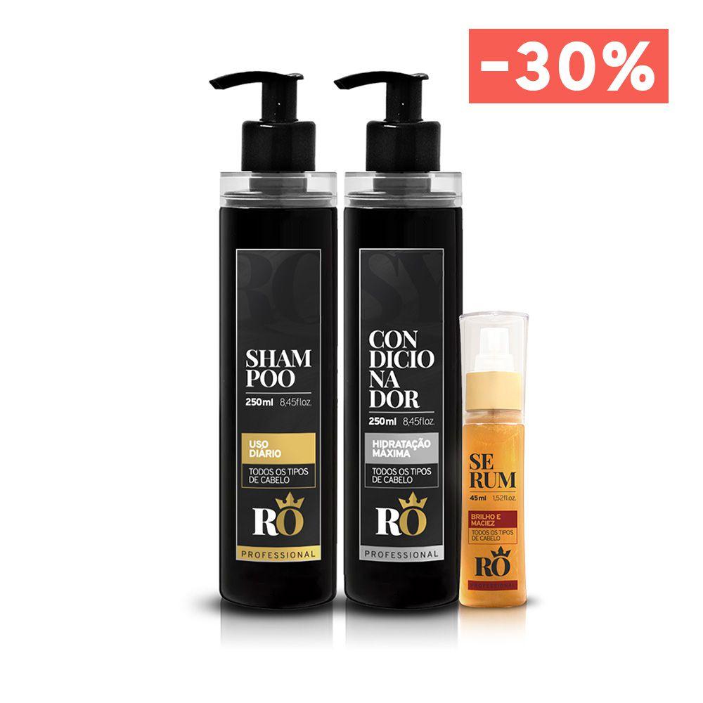 Combo Shampoo + Condicionador + Serum RO (BLACK FRIDAY)