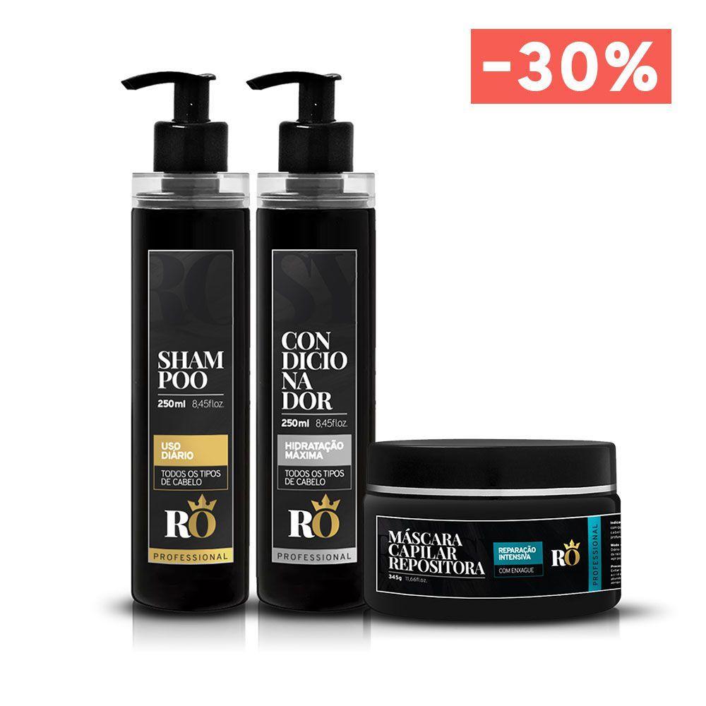 Combo Shampoo + Condicionador + Máscara RO (BLACK FRIDAY)