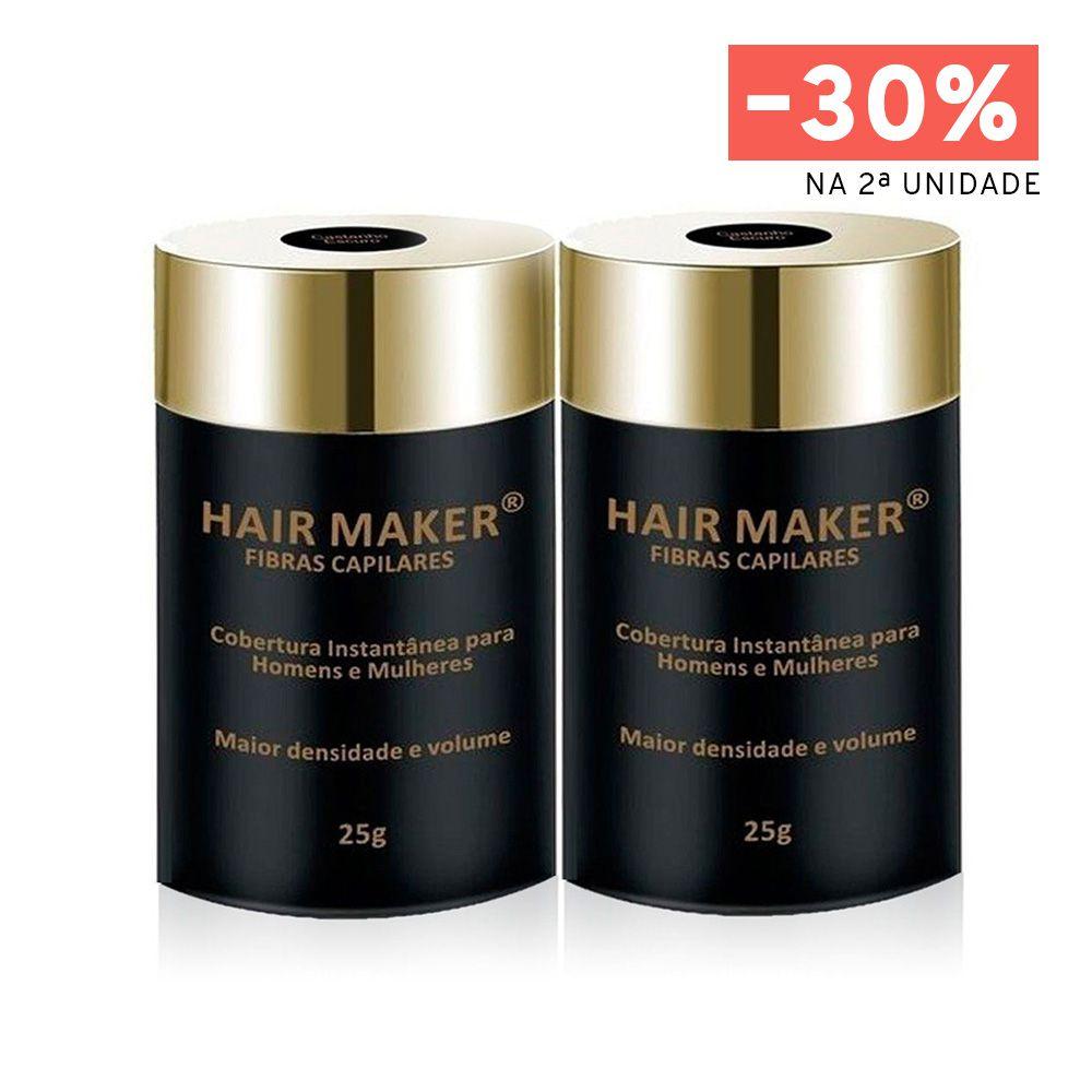 Double Fibras Capilares Hair Maker Castanho Escuro 25g