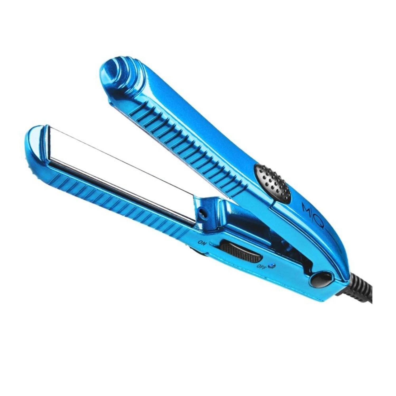 Mini Prancha de Cabelo MQ Pro Barber Titanium - Azul