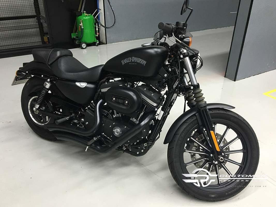 "Escapamento K10 Harley Davidson Sportster Iron 883 2"".1/2 Curvo Corte Lateral - Customer"