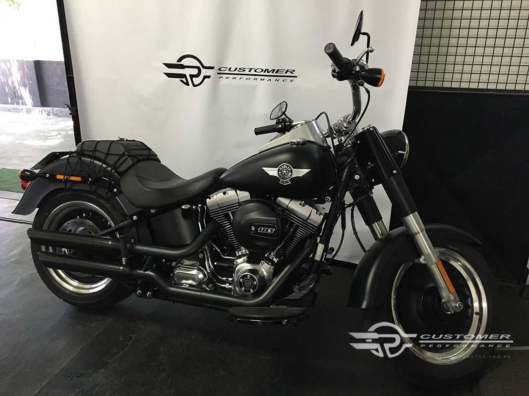 """Ponteira Harley Davidson Fat Boy até 2005 3"""" corte Baixo - Customer"""