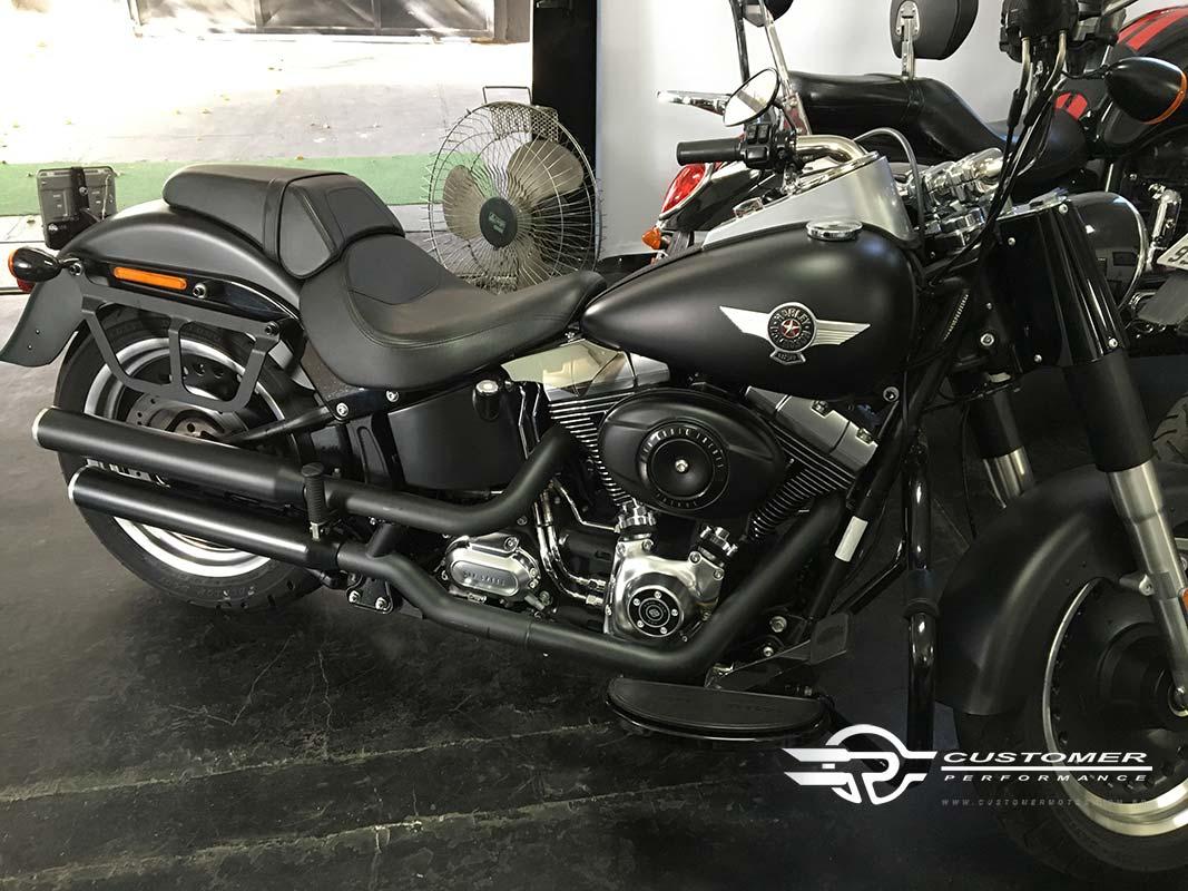 """Ponteira Harley Davidson Fat Boy até 2005 3"""" corte Reto - Customer"""