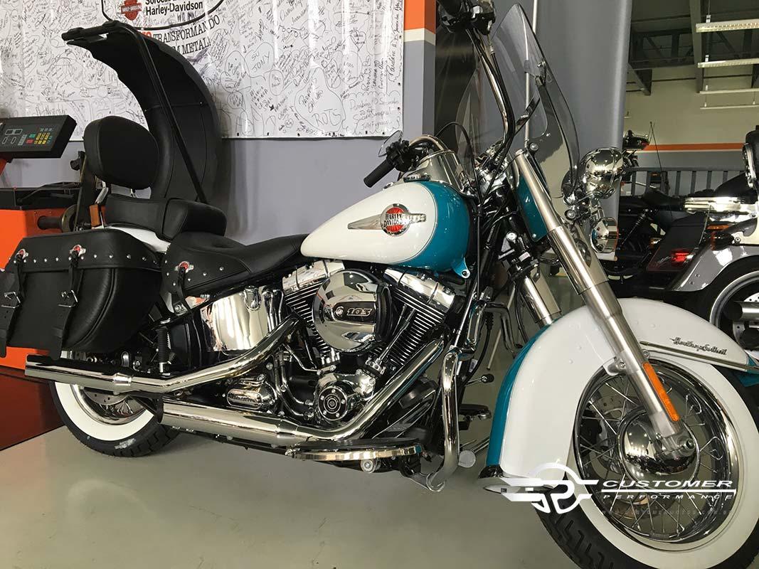 "Ponteira para Harley Davidson Heritage\FX 2006 em diante 3"" corte Lateral - Customer"
