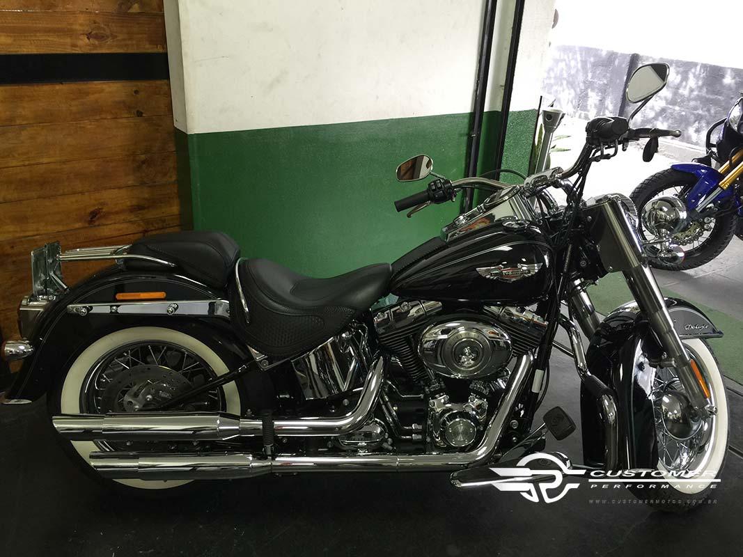 """Ponteira para Harley Davidson Heritage\FX 2006 em diante 3"""" corte Baixo - Customer"""