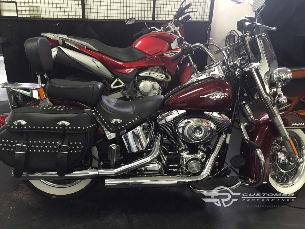 """Ponteira para Harley Davidson Heritage\FX 2006 em diante 3"""" corte Reto - Customer"""
