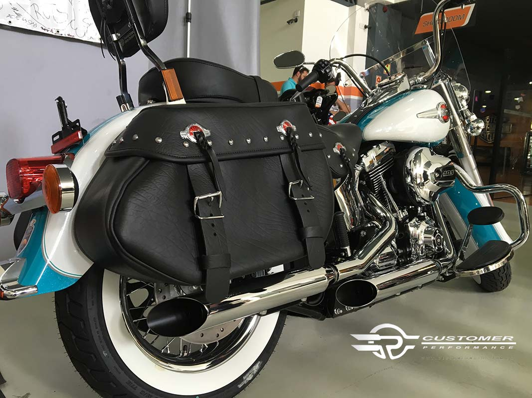 "Ponteira para Harley Davidson Heritage\FX até 2005 3"" corte Lateral - Customer"
