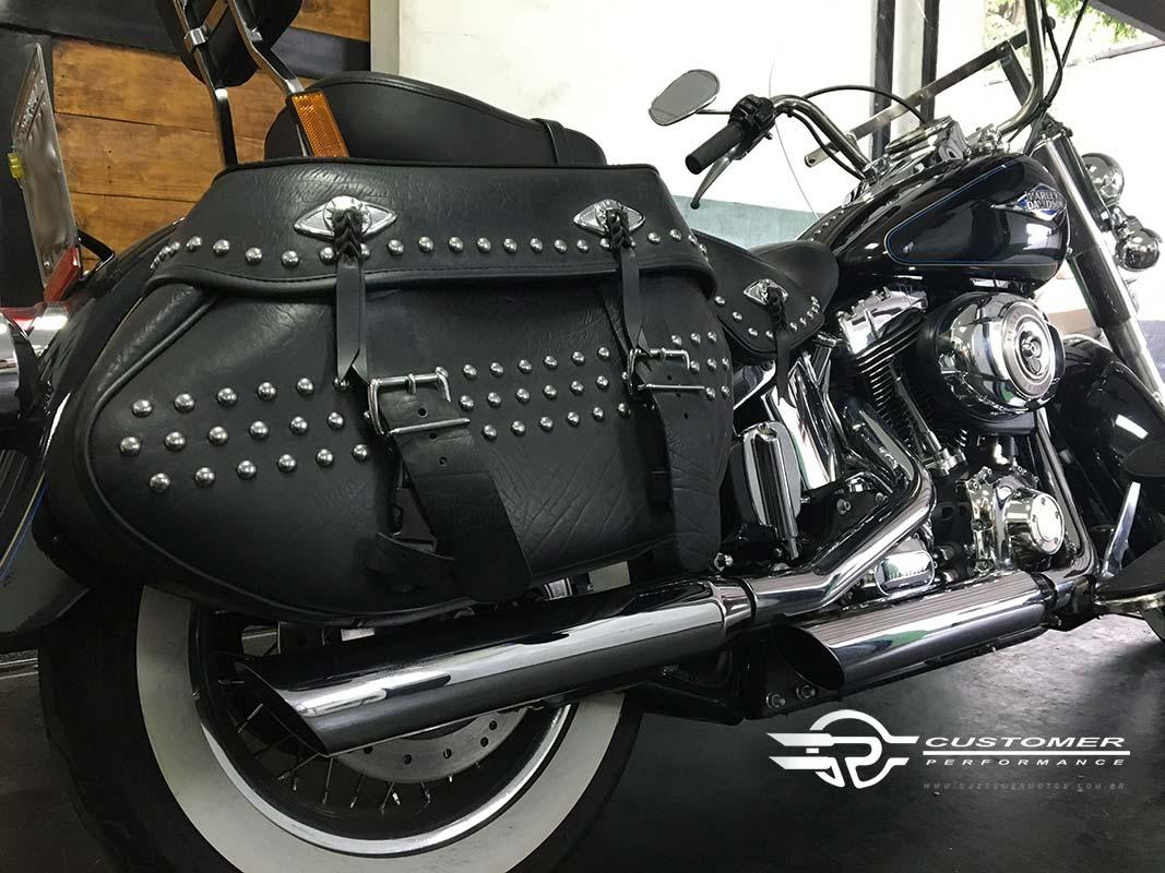 """Ponteira para Harley Davidson Heritage\FX até 2005 3"""" corte Baixo - Customer"""