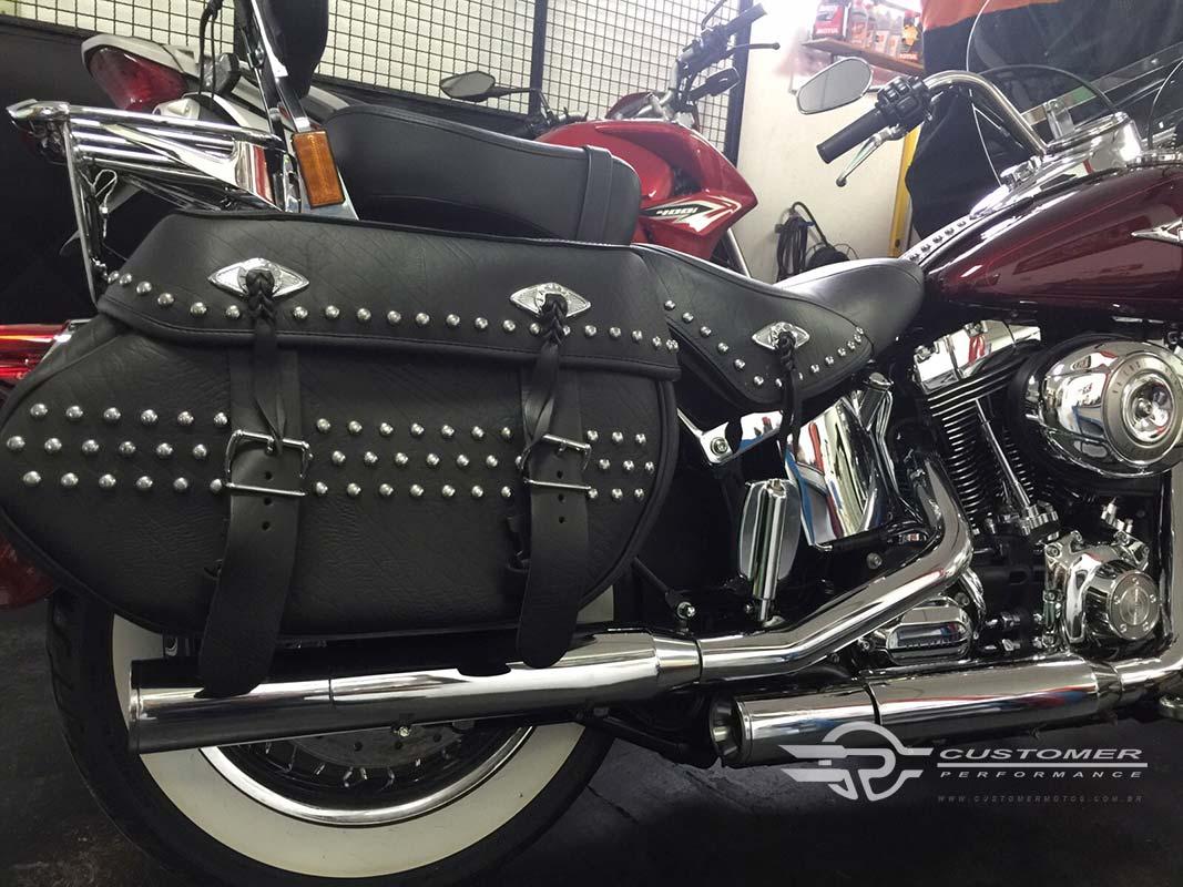 """Ponteira para Harley Davidson Heritage\FX até 2005 3"""" corte Reto - Customer"""