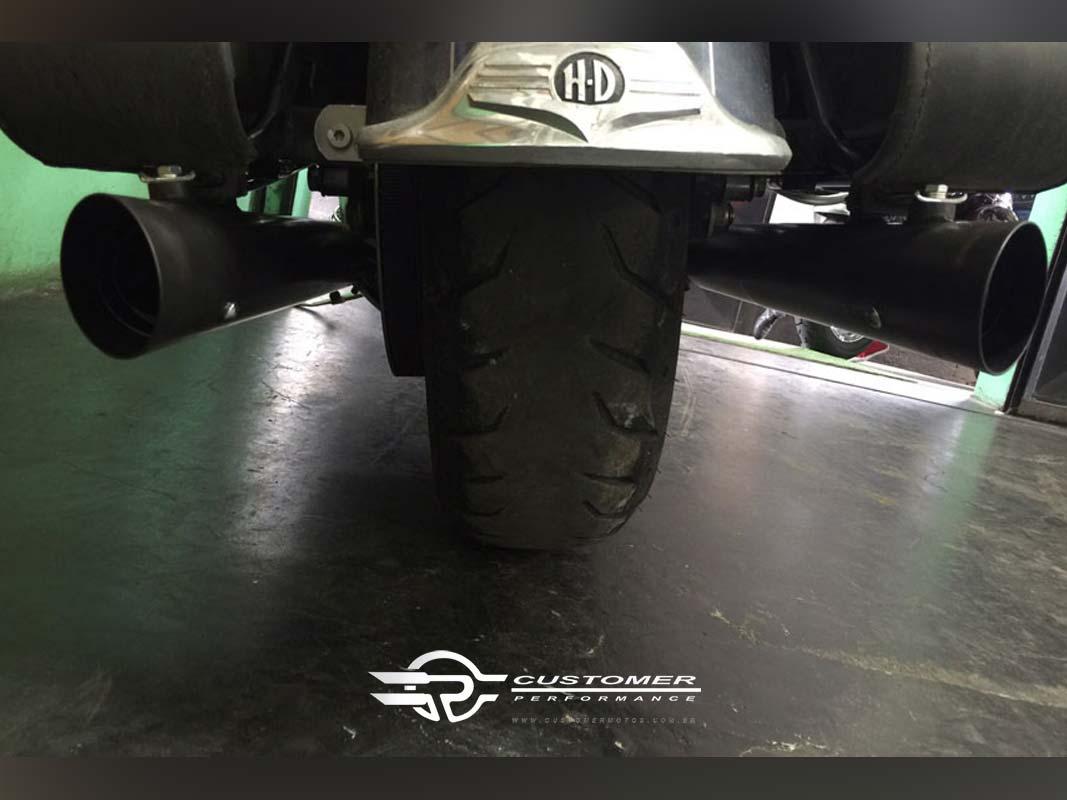 """Ponteira para Harley Davidson Touring 3"""" corte Lateral - Customer"""