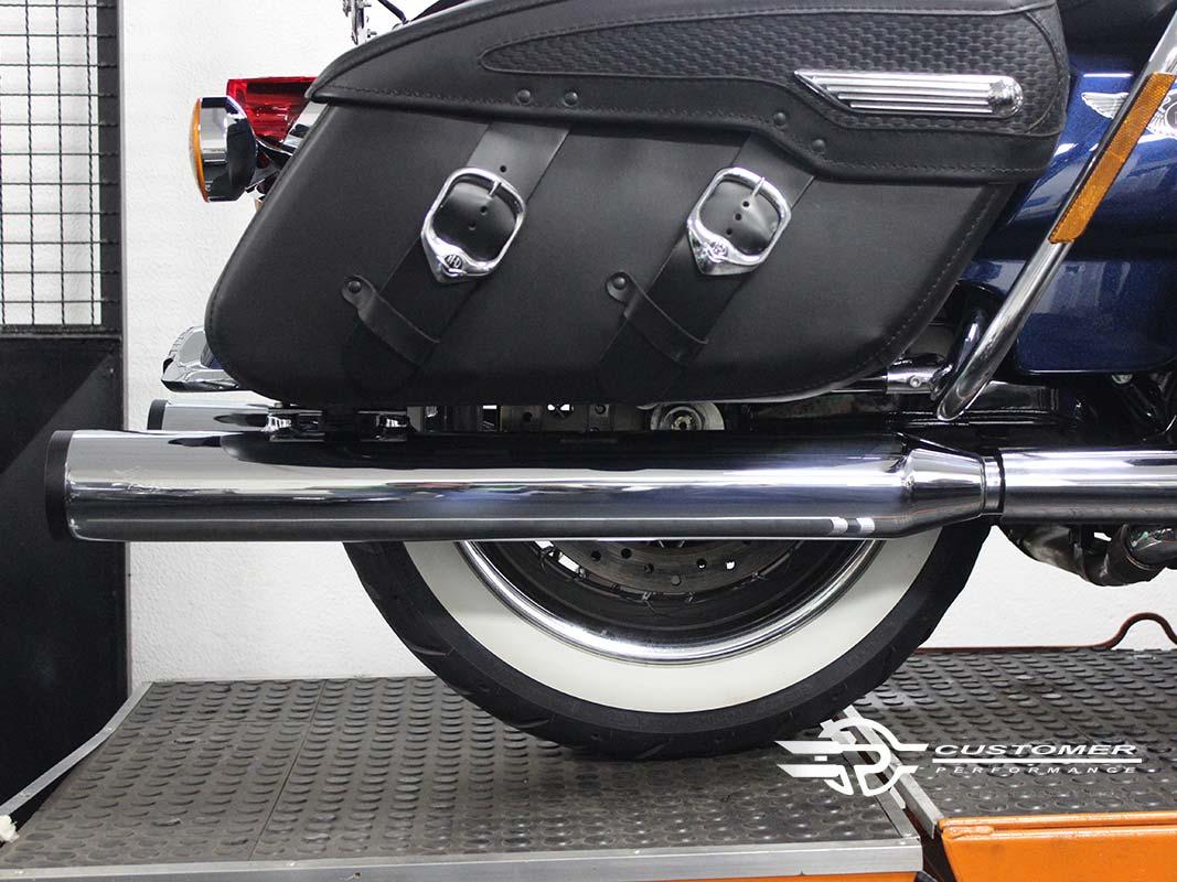 """Ponteira para Harley Davidson Touring 3"""" corte Reto - Customer"""