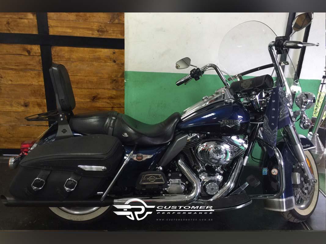 """Ponteira para Harley Davidson Touring 4"""" corte Lateral - Customer"""