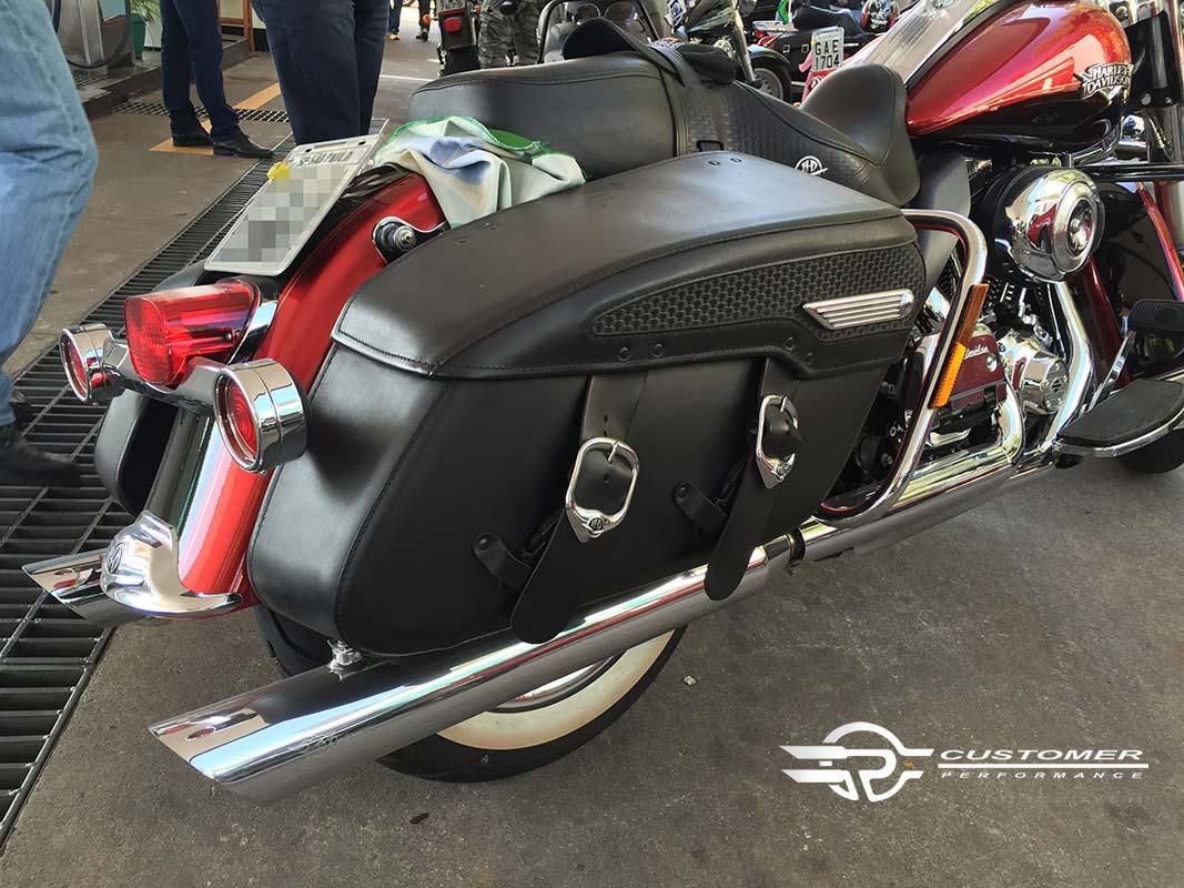 """Ponteira para Harley Davidson Touring 4"""" corte Baixo - Customer"""
