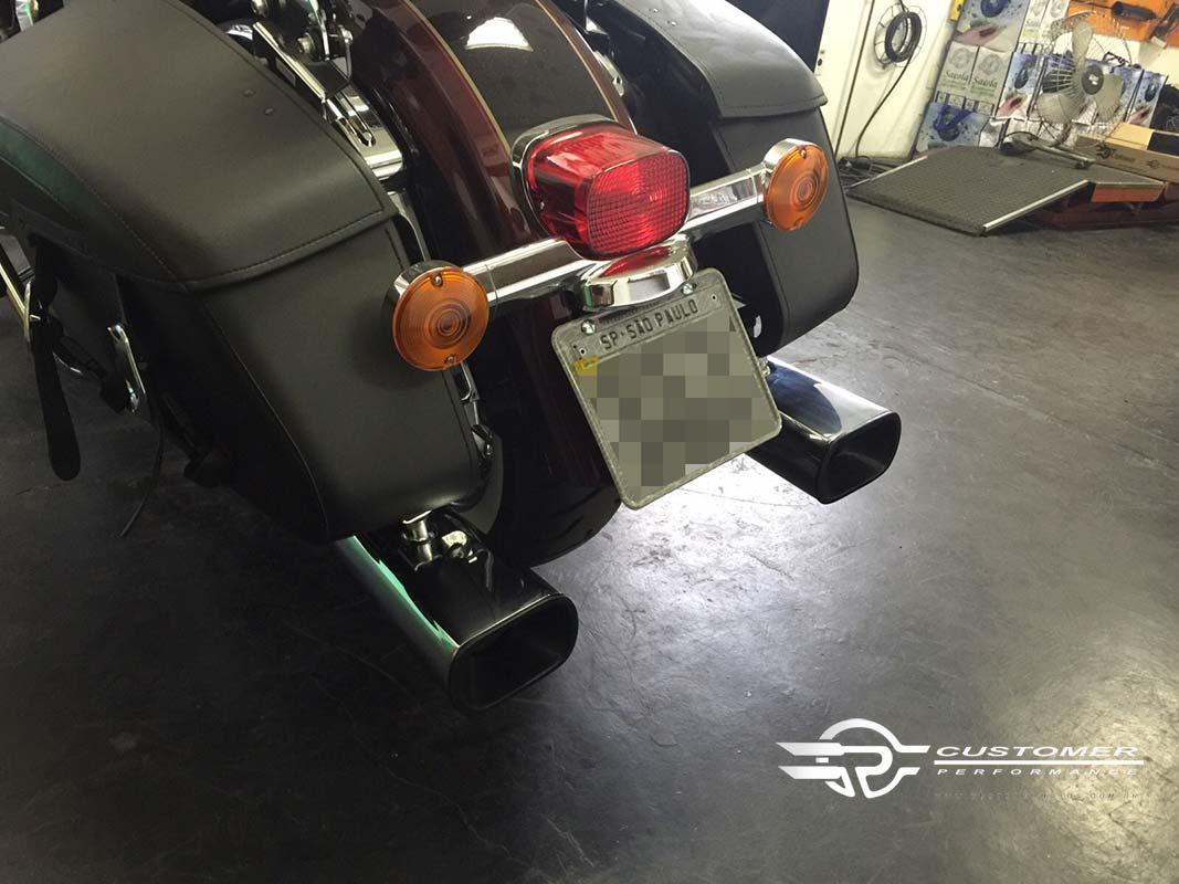 "Ponteira Alligator para Harley Davidson Touring 4"" corte Reto - Customer"