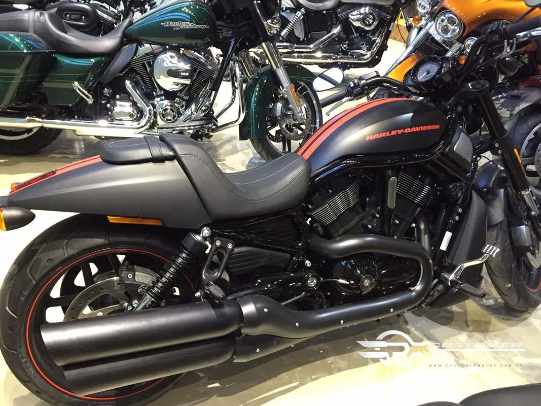 "Ponteira para Harley Davidson Night Rod 06 à 11 3"".1/2 corte Baixo - Customer"