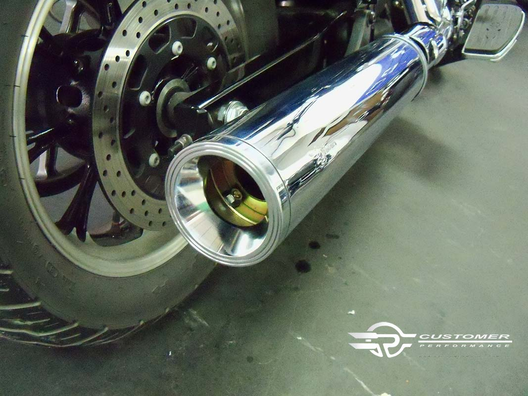 "Ponteira para Yamaha Midnight Star 950cc 4"" corte reto - Customer"