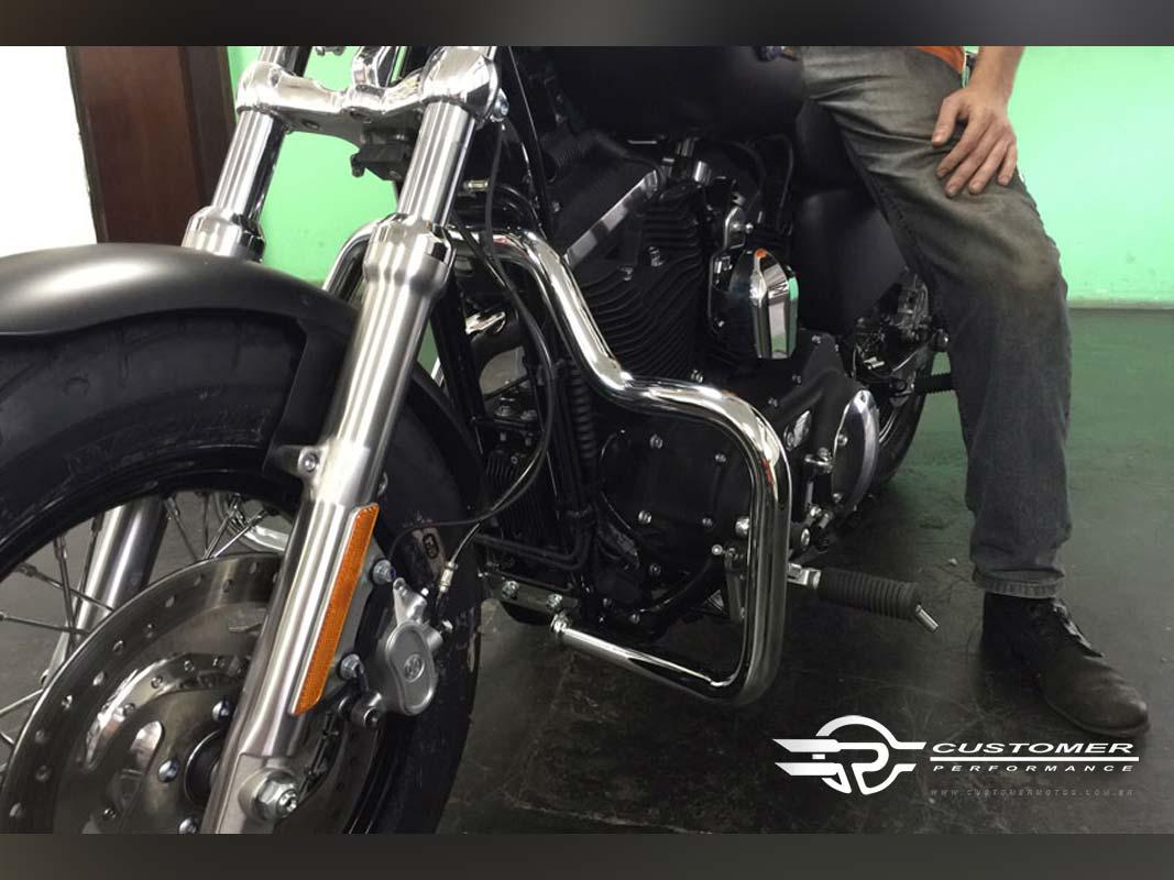 Protetor de Motor para Harley Davidson Sportster Iron 883 Moustache - Customer