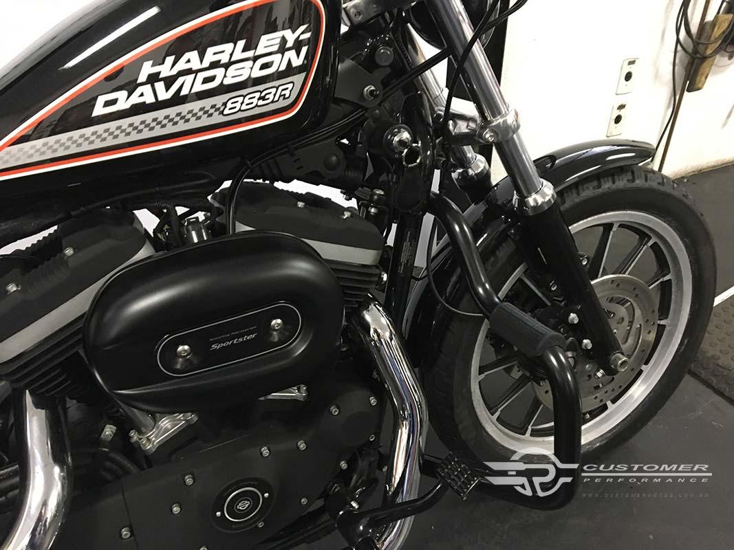 Protetor de Motor para Harley Davidson Sportster Iron 883 Moustache c/ Borracha de apoio - Customer