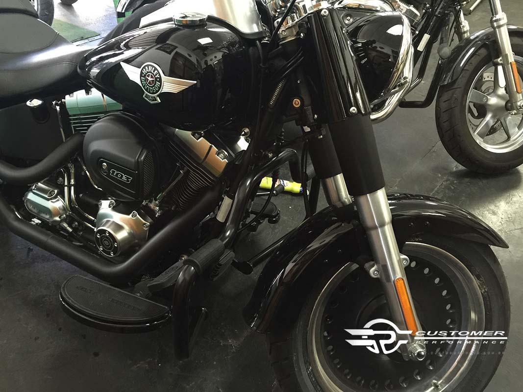 Protetor de Motor para Harley Davidson Softail Fat Boy c/ Borracha de apoio - Customer