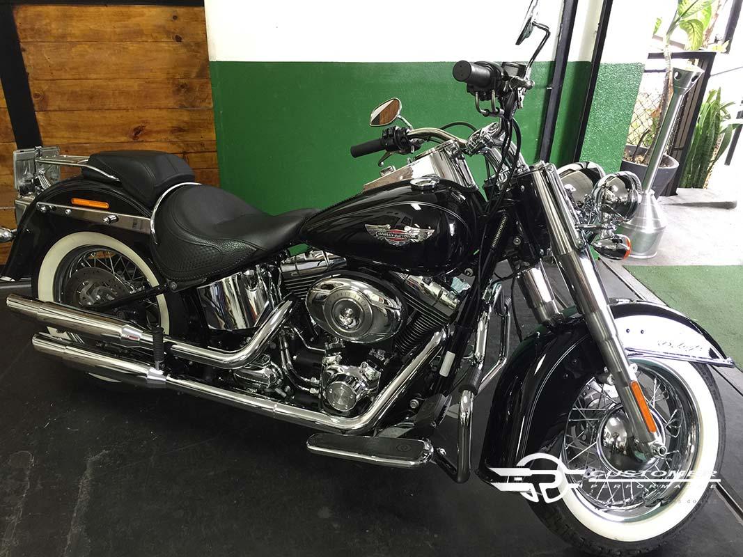 Protetor de Motor para Harley Davidson Softail Heritage c/ Borracha de apoio - Customer