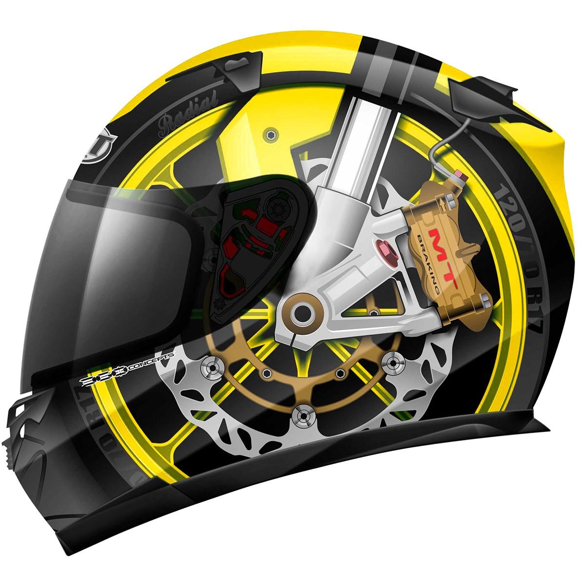 Capacete MT Blade Braking Preto/Amarelo