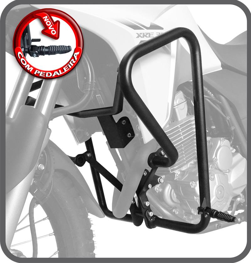 Protetor de Motor e Carenagem c/ Pedaleira para Honda XRE 300 - Scam