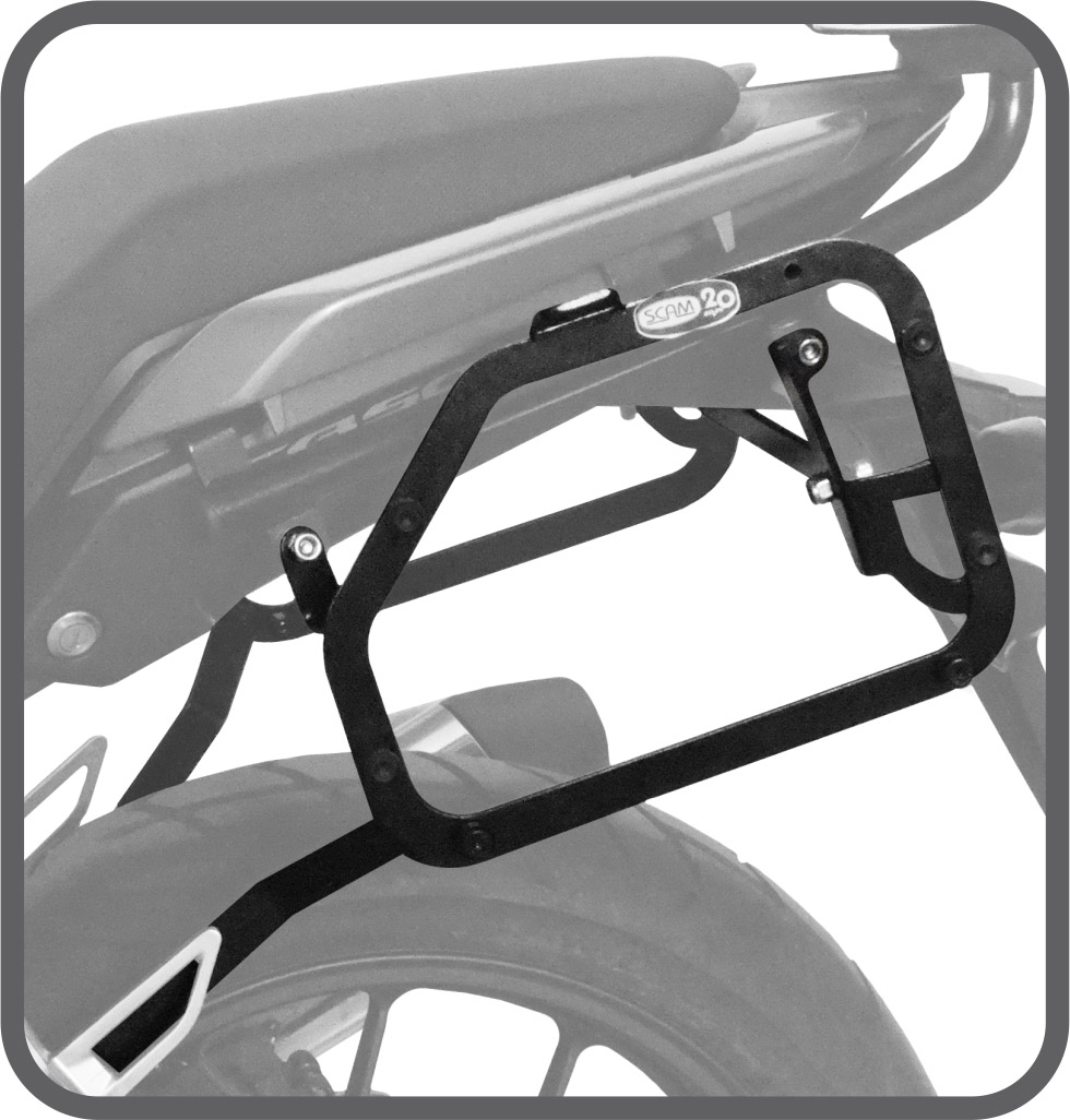 Suporte de Baú Lateral para Honda CB500 X - Scam