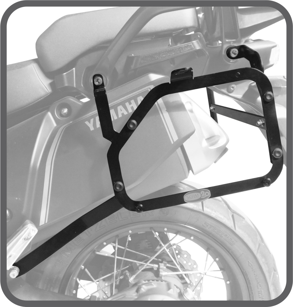 Suporte de Baú Lateral para Yamaha Tenere 1200 - Scam