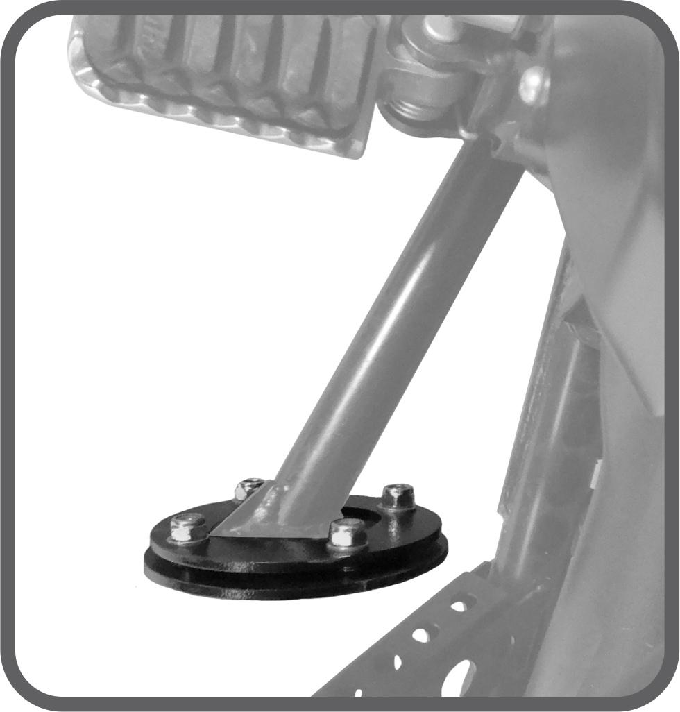 Ampliador de Base para Yamaha Tenere 1200 - Scam