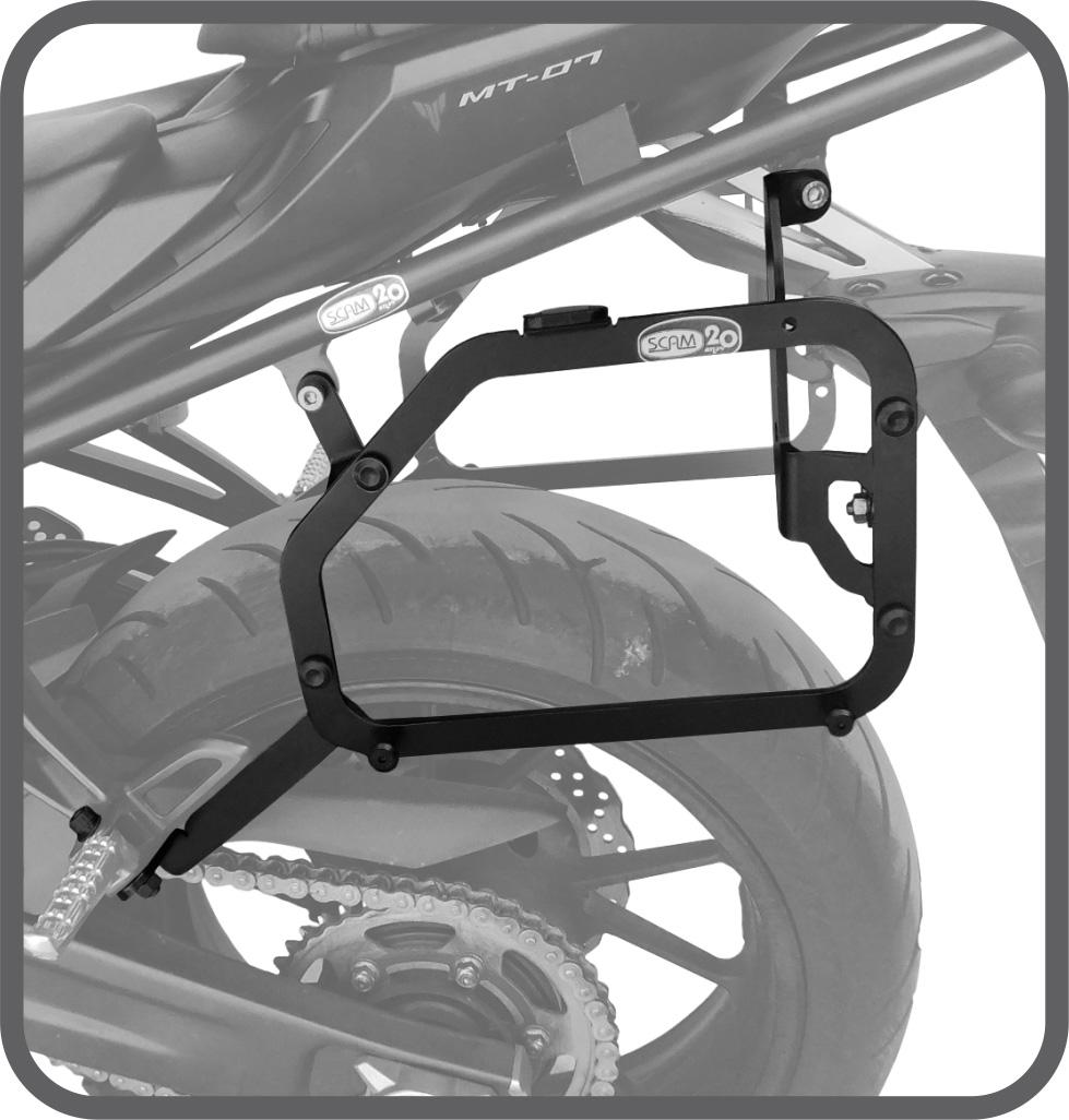 Suporte de Baú Lateral para Yamaha MT07 2015 em diante - Scam