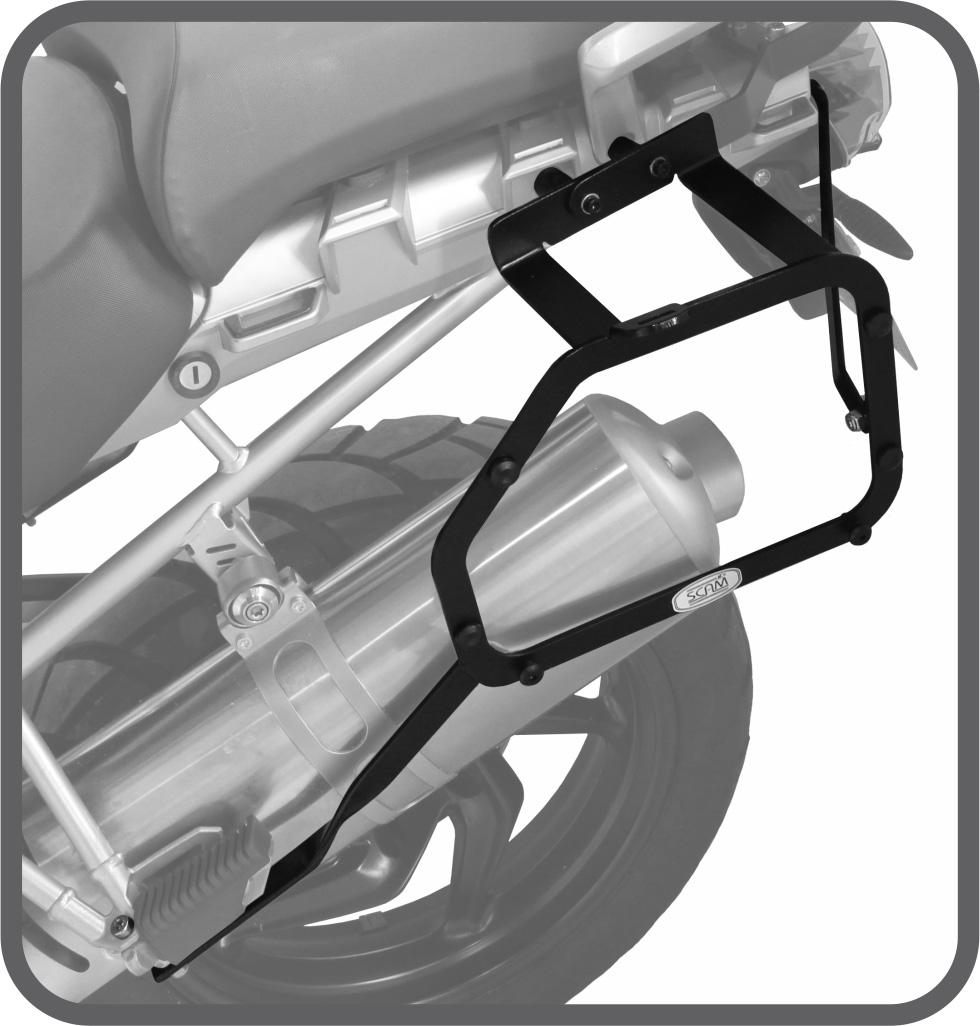 Suporte de Baú Lateral para BMW R1200 GS - Scam