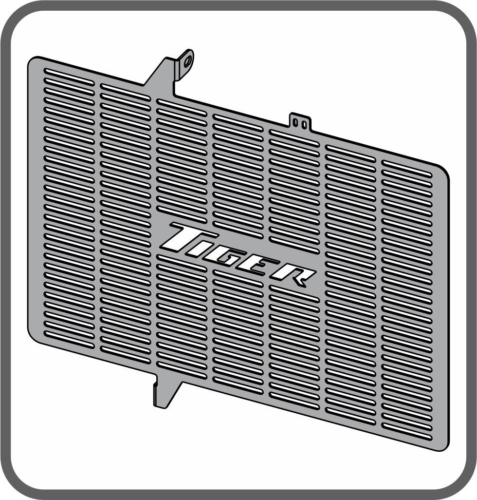 Protetor de Radiador para Triumph Tiger 800 / XC / XR / XCX / XRX / XCA - até 2015 - Scam
