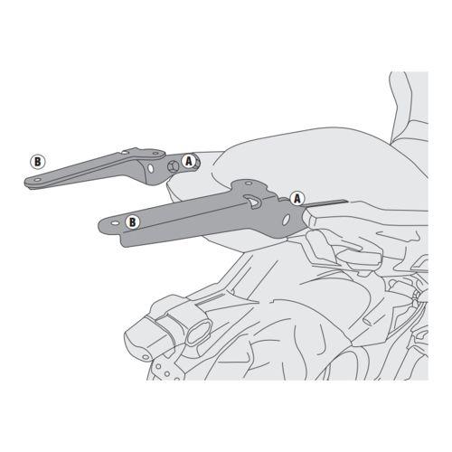 Base Específica Monorack SR4114 Kawasaki Versys 650 2015 até 2016 - Givi