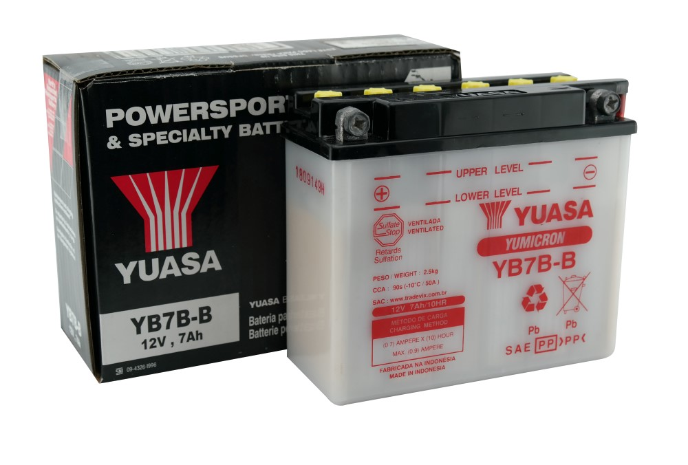 Bateria Yuasa YB7B-B CBX 200 / NX 150 / 200 / 350 Sahara / TDM / XT 225