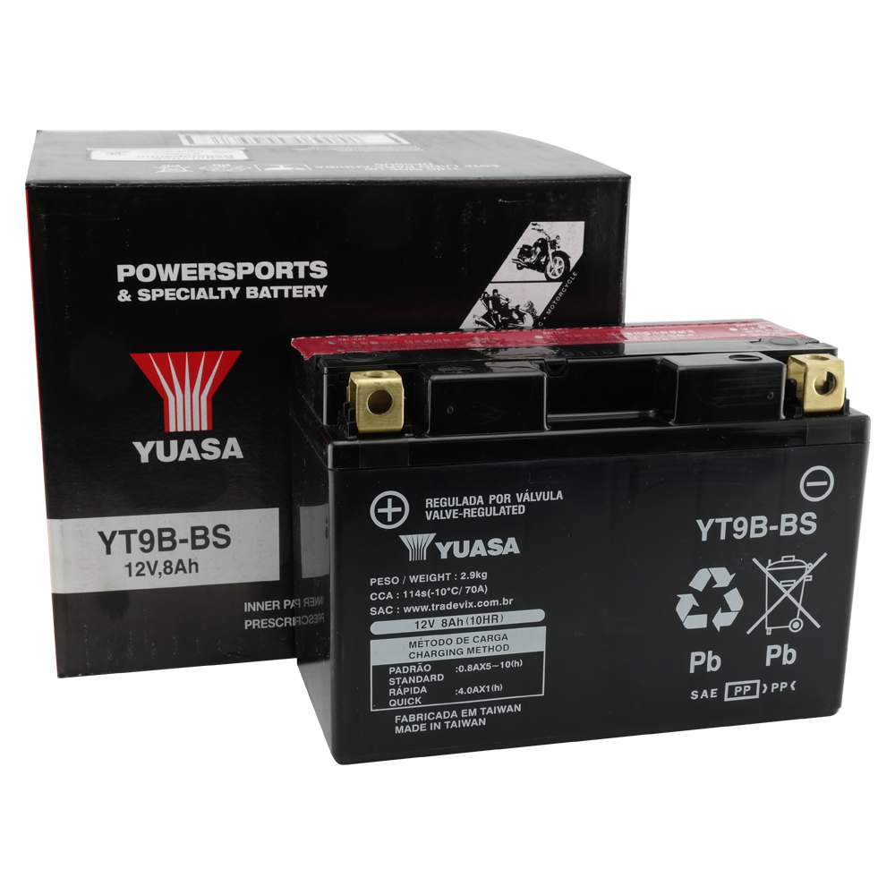 Bateria Yuasa YT9B-BS XT660R / YZF-R6 / MT-03