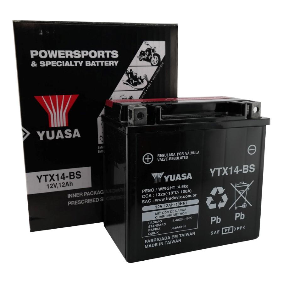 Bateria Yuasa YTX14-BS DR 650 / 800 / ZX / FZR 1000 / Shadow 750 98/02