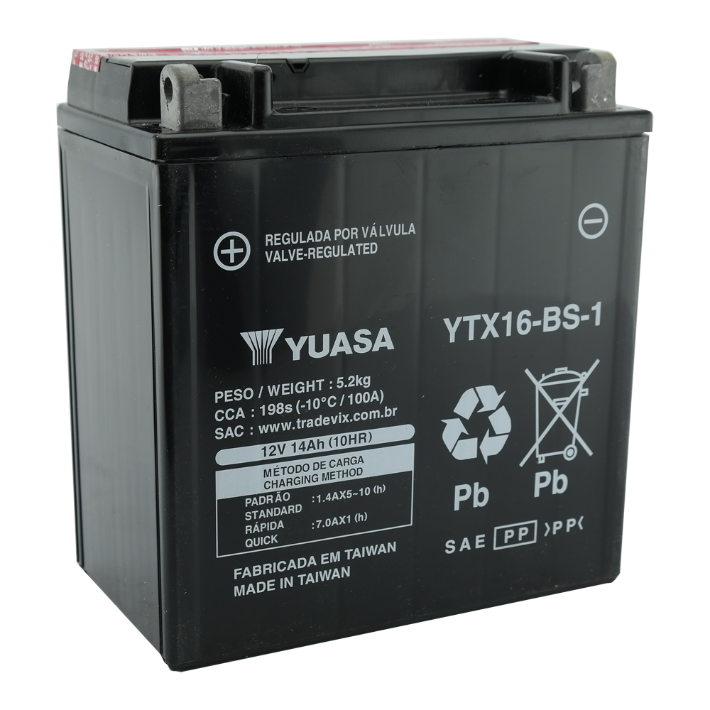 Bateria Yuasa YTX16-BS1 ZR1100 / Intruder 1400 / VL1500 / Boulevard 1500