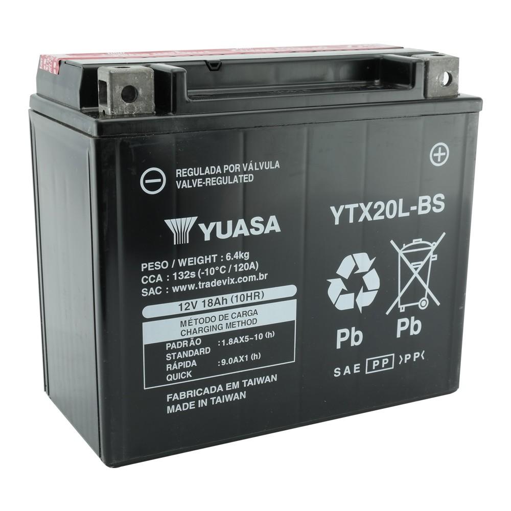 Bateria Yuasa YTX20L-BS XVZ1300 a HARLEY-DAVIDSON FXD DYNA 07-12 / Fatboy 96-2013