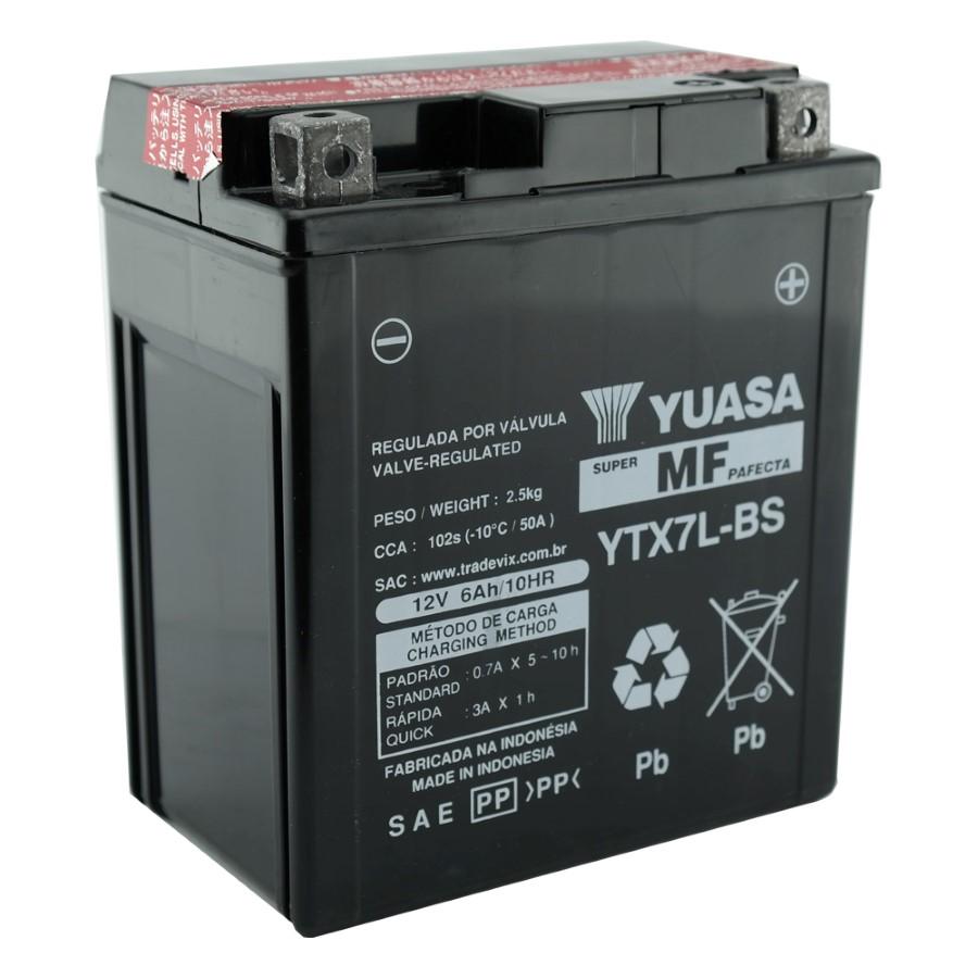 Bateria Yuasa YTX7L-BS Falcon / Twister /Tornado / Fazer / CB 300