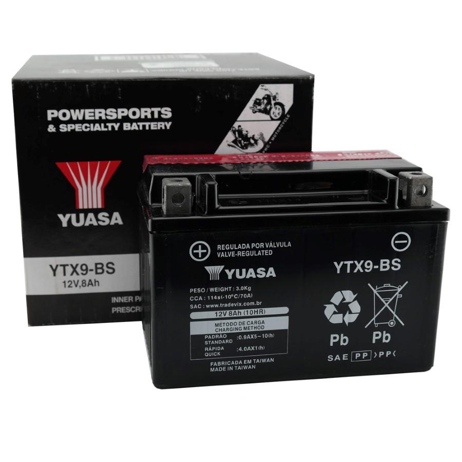 Bateria Yuasa YTX9-BS CB 500 / XTE 600 / XJ6 98 / Shadow 600 / Mirage 250
