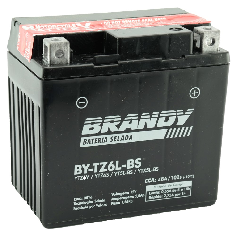 Bateria Brandy BY-TZ6L-BS Mix 150 / Fan 2009 / XRE300 / BROS 125/150