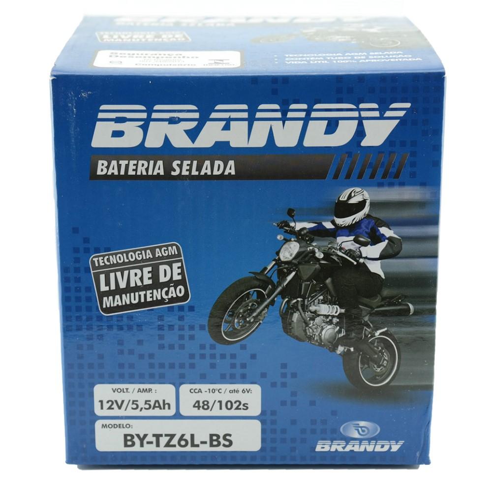 Bateria Brandy BY-TZ6L-BS Mix 150 / Fan 2009 / XRE300 / BROS 125/150