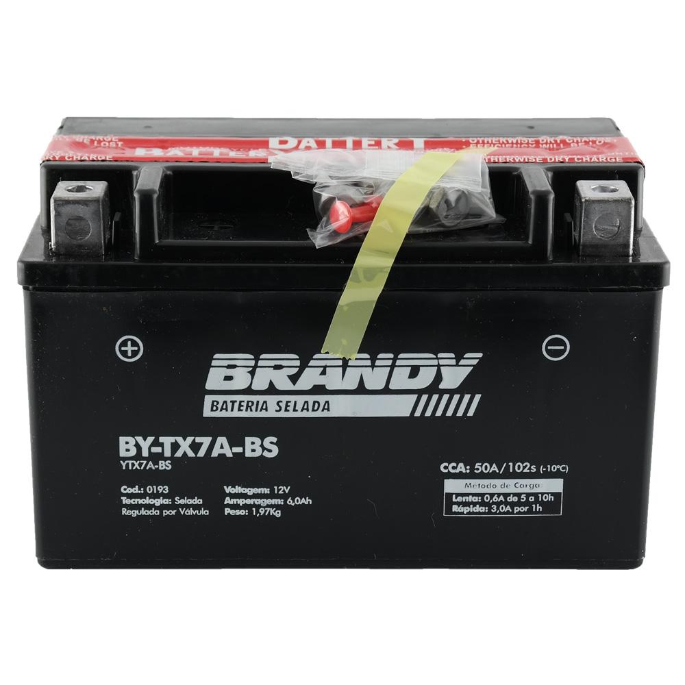Bateria Brandy BY-TX7A-BS Burgman 125 / Ninja 250 / Agrale 125