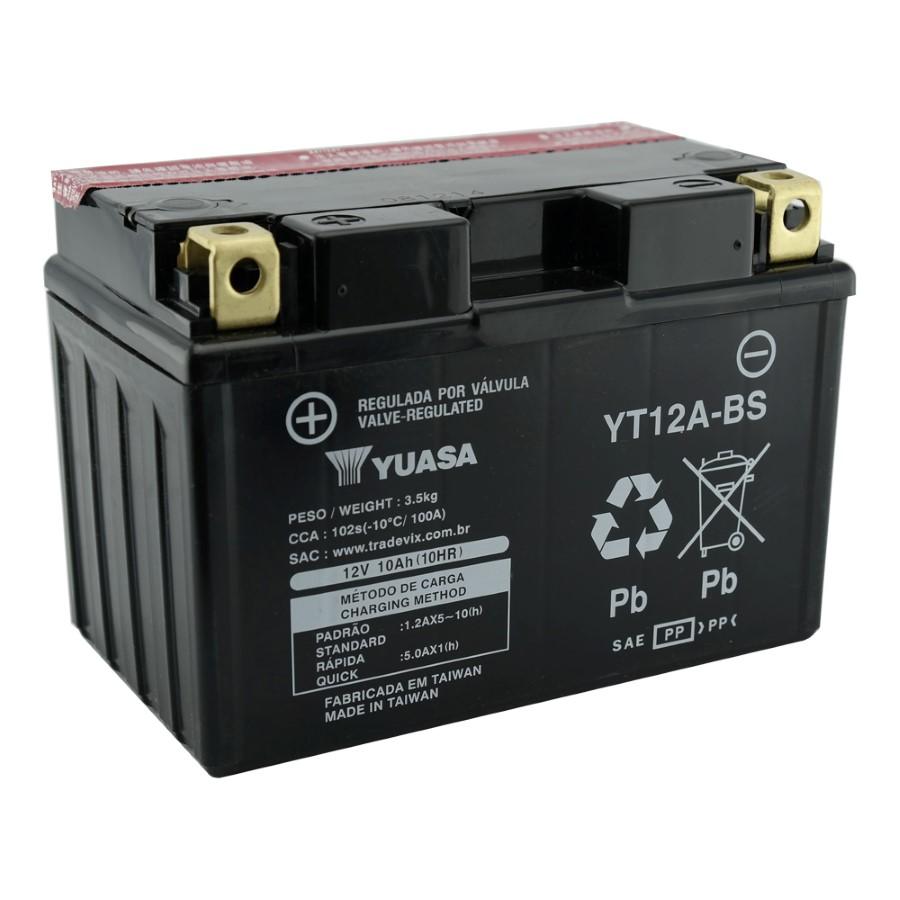 Bateria Yuasa YT12A-BS GSX R750 00-07 / Bandit 1200 / GSX 1300R Hayabusa 99-07