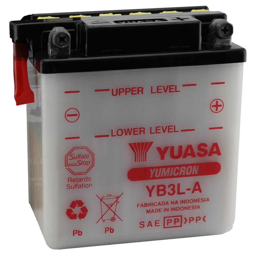 Bateria Yuasa YB3L-A XLX 250 / 350 / DT 180 / Vespa Pedal