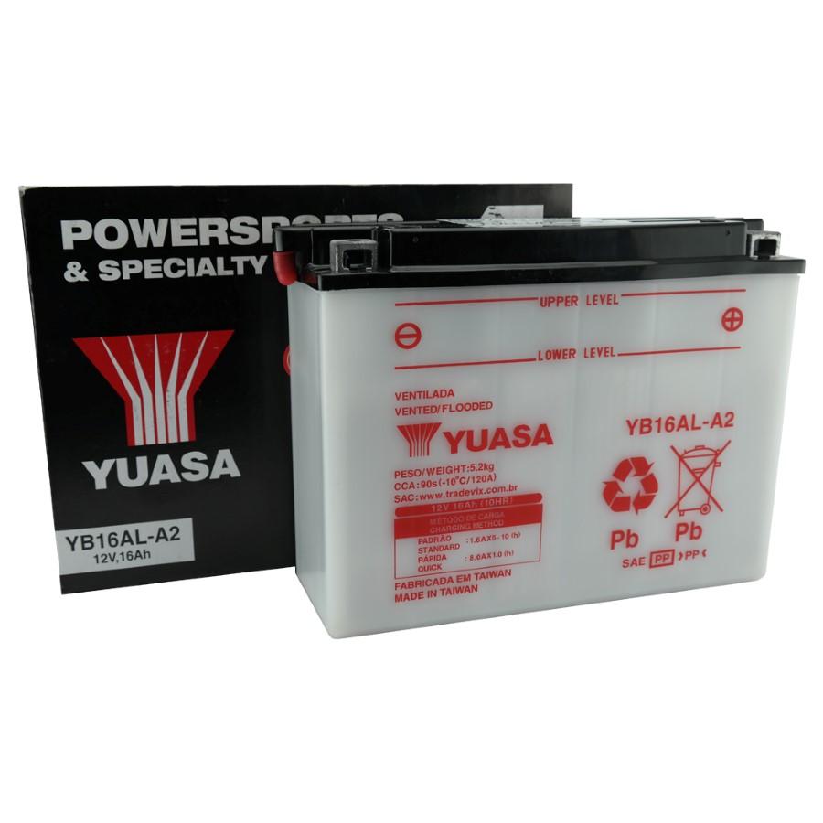Bateria Yuasa YB16AL-A2 XV 700B / Ducati / XV700 Virago / V-MAX 1200 85/07